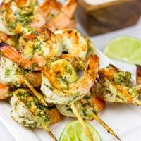 Get outside and grill up a batch of these Grilled Coconut Lime Shrimp this weekend!