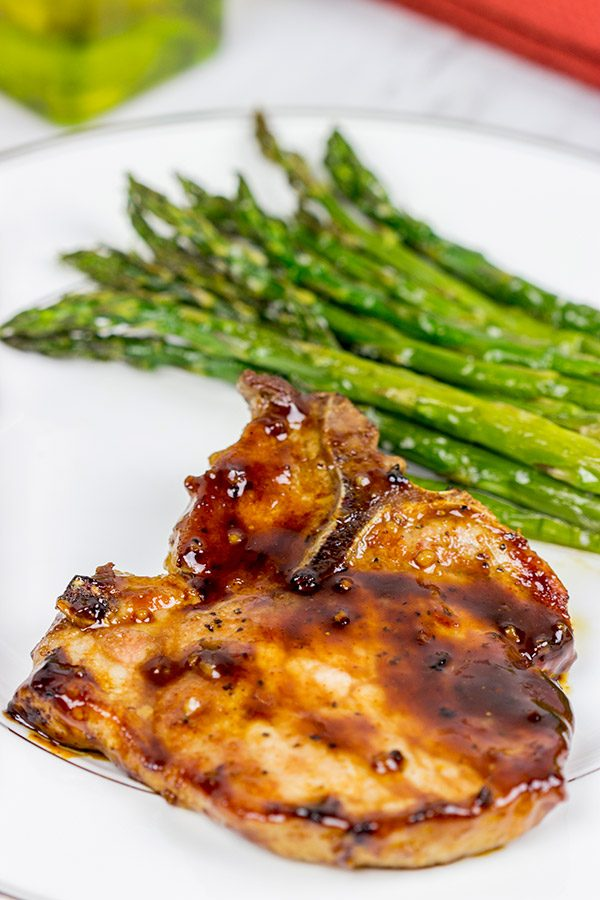 Maple Chipotle Glazed Pork Chops are an easy weeknight meal, and they're packed with delicious flavor!