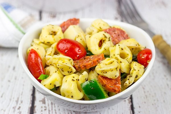 Summer picnics aren't complete without pasta salad, and this Pepperoni Pasta Salad is an epic addition to the picnic table!