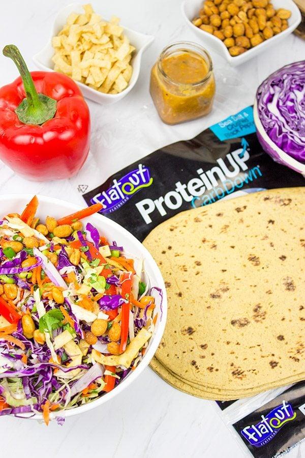 Make lunch fun again with these Thai Peanut Wraps!