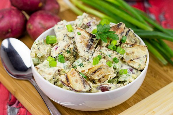 Looking for a fun twist to a classic summer dish? Try this Grilled Potato Salad!