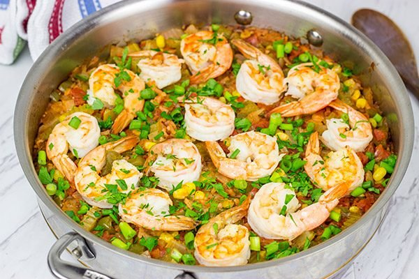 This Lowcountry Shrimp Perloo is easy and delicious...perfect for a weeknight meal!