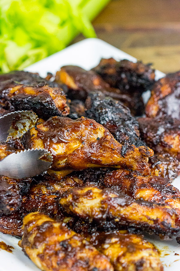 Apple Bourbon BBQ Sauce is one delicious flavor for grilled chicken wings!