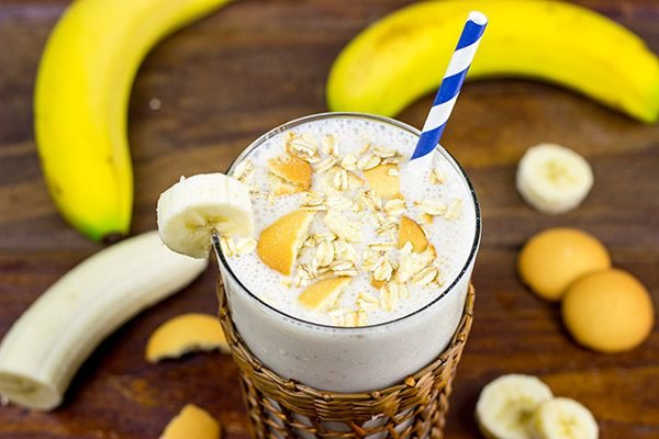 This Banana Muffin Smoothie tastes like eating a loaf of fresh banana bread...through a straw.
