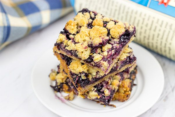 Loaded with blueberries, these Blueberry Crumb Bars are the perfect summer dessert!
