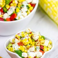 This Mexican Street Corn Salad is a fun twist on a delicious summer recipe!
