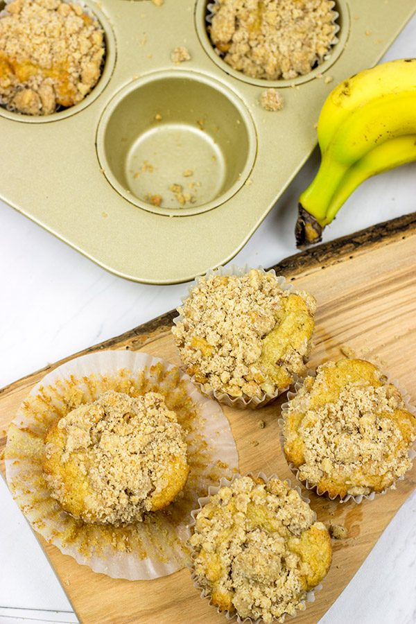 These Banana Walnut Muffins are a classic...just try not to eat all of the streusel first!
