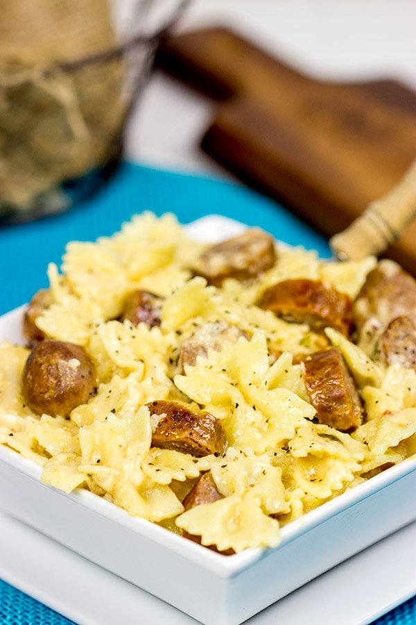This Chipotle Brats Mac and Cheese is a tasty grown-up version of a childhood favorite!