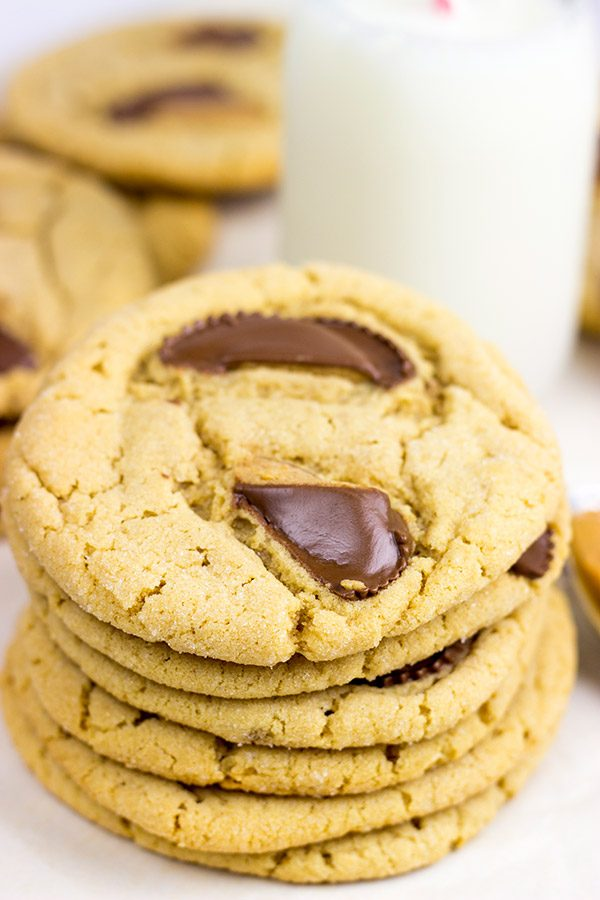It's hard to beat the chocolate + peanut butter combo! These Chocolate Peanut Butter Cup Cookies are a favorite around here!