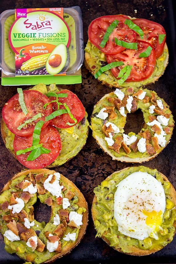 Grab a bagel and mix up lunch with this Guacamole Toast: 3 Ways!