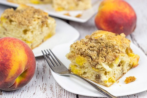 This Peach Pecan Coffee Cake is so good it can double as dessert or breakfast...or both!