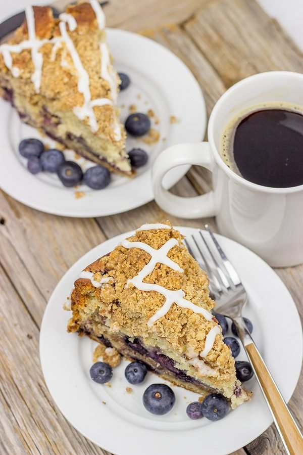 Get your morning started off right with a slice of Blueberry Coffee Cake!