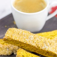 These Pumpkin Spice Biscotti are a great Fall treat...and they're perfect alongside a Pumpkin Spice Latte!