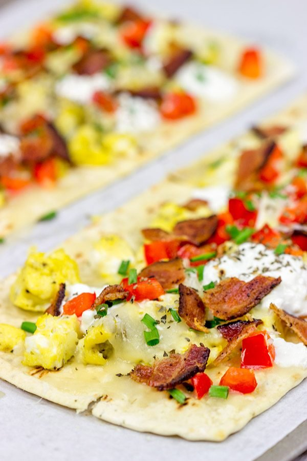 Who says you can't have pizza for breakfast? This Thin Crust Breakfast Pizza is a great way to start the day!
