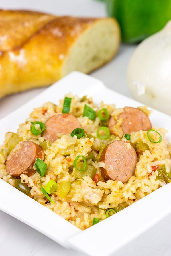Chicken and Sausage Jambalaya is a classic Cajun dish...and it's perfect for a weeknight meal!