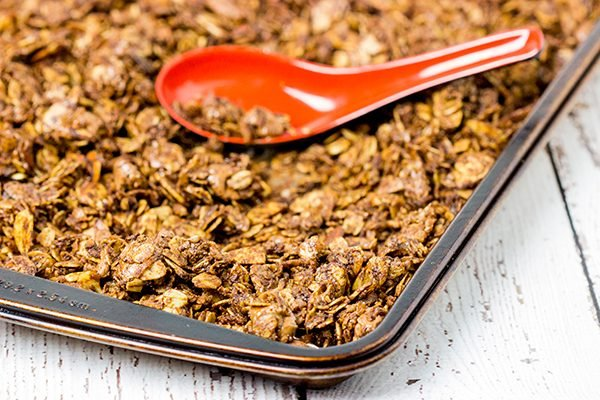 No matter the time of day, this Chocolate Almond Granola is one tasty treat!