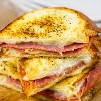 These Italian Grilled Cheese Sandwiches are layered with salami, provolone and mozzarella...and they make for one epic sandwich on a chilly winter day!