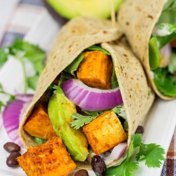 These Southwestern Veggie Wraps are packed with layers of flavor...starting with seasoned sweet potatoes!