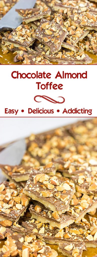 This Chocolate Almond Toffee is an easy treat to make...just try not to eat it all at once!