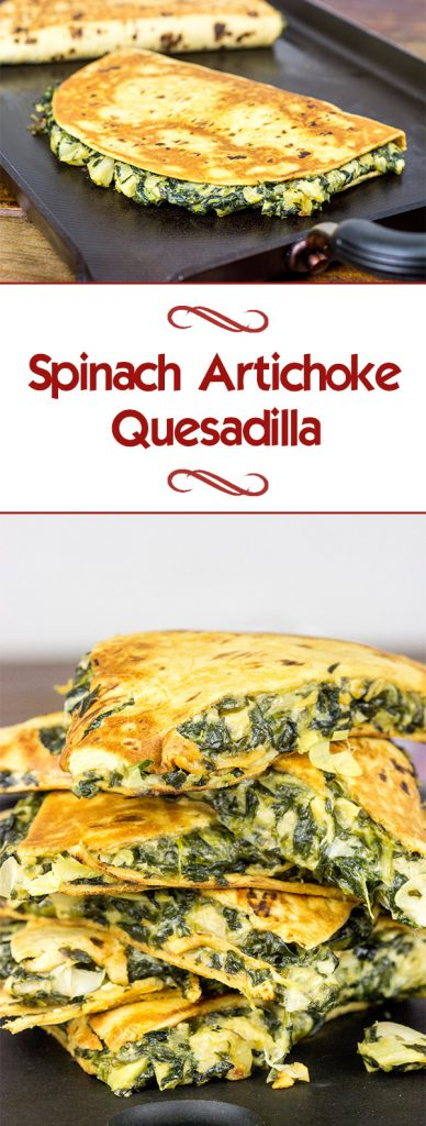 As the nights turn colder, it's time to warm up with some tasty comfort food...like these Spinach Artichoke Quesadillas!
