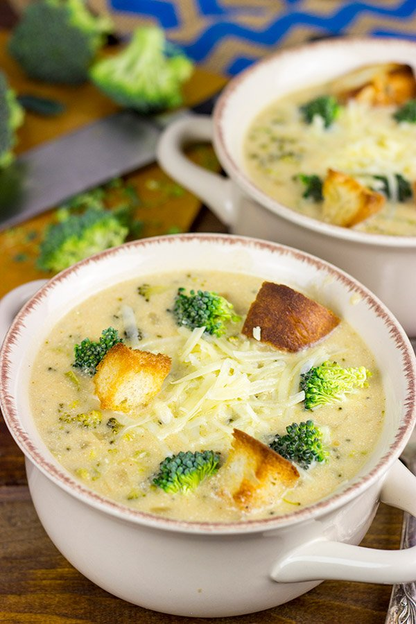 This Broccoli Cheddar Soup is creamy and delicious...and it's a favorite for these cold winter days!