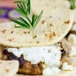 Lamb Sliders with Feta Tzatziki Sauce