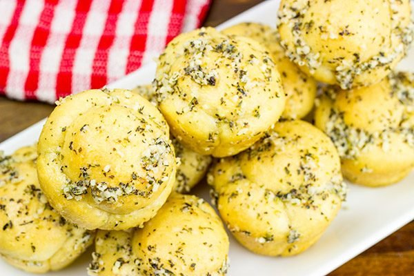 These Muffin Tin Garlic Knots are easy and delicious...and they're the perfect game-time appetizer!