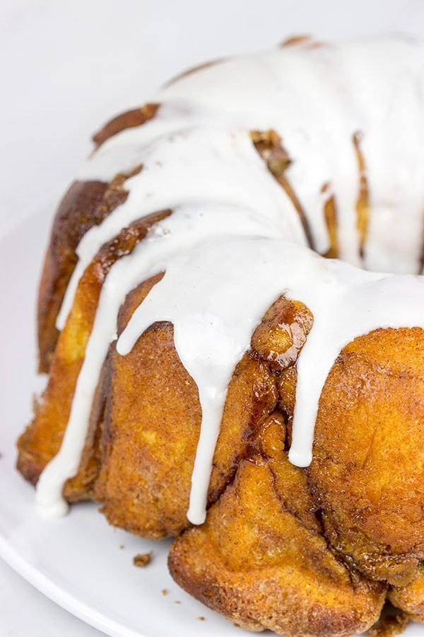 This Pull-apart Monkey Bread is a classic! Not only does it taste delicious, but you get to eat it with your hands...and that makes it even better!