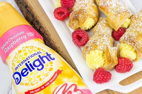 These White Chocolate Raspberry Cream Horns are a fun sweet treat to serve during the holidays!