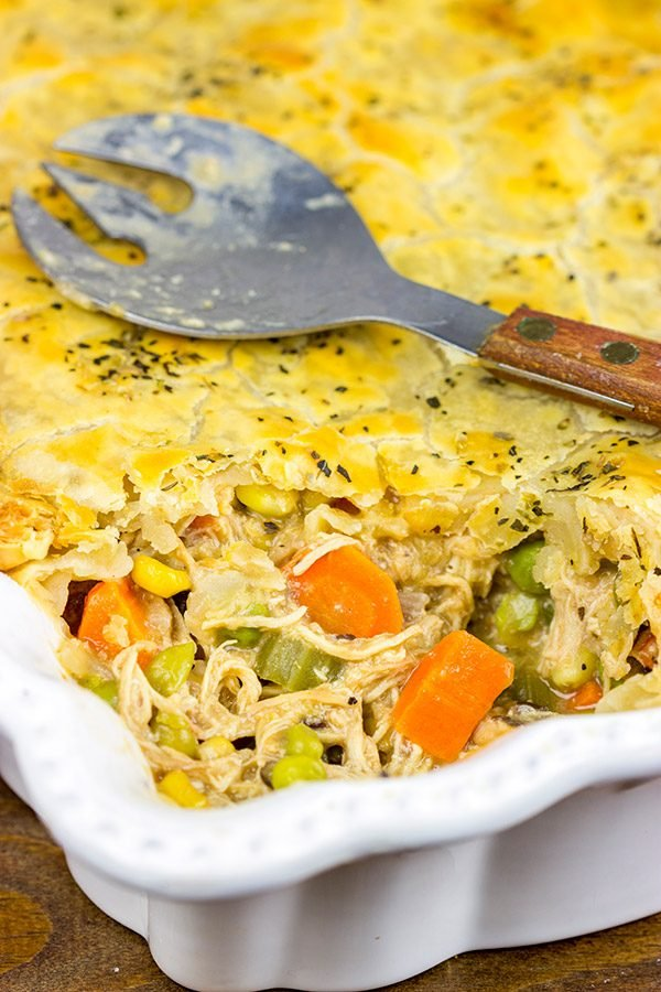 This Classic Chicken Pot Pie is best served by a roaring fire on a cold winter day!