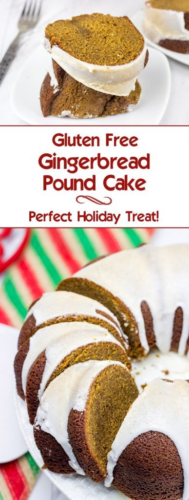 Do you look forward to gingerbread during the holidays as much as I do? If so, then this Gluten Free Gingerbread Pound Cake definitely deserves a spot on your holiday baking agenda!