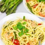 Spaghetti with White Wine Garlic Sauce