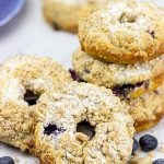 Blueberry Crumb Donuts