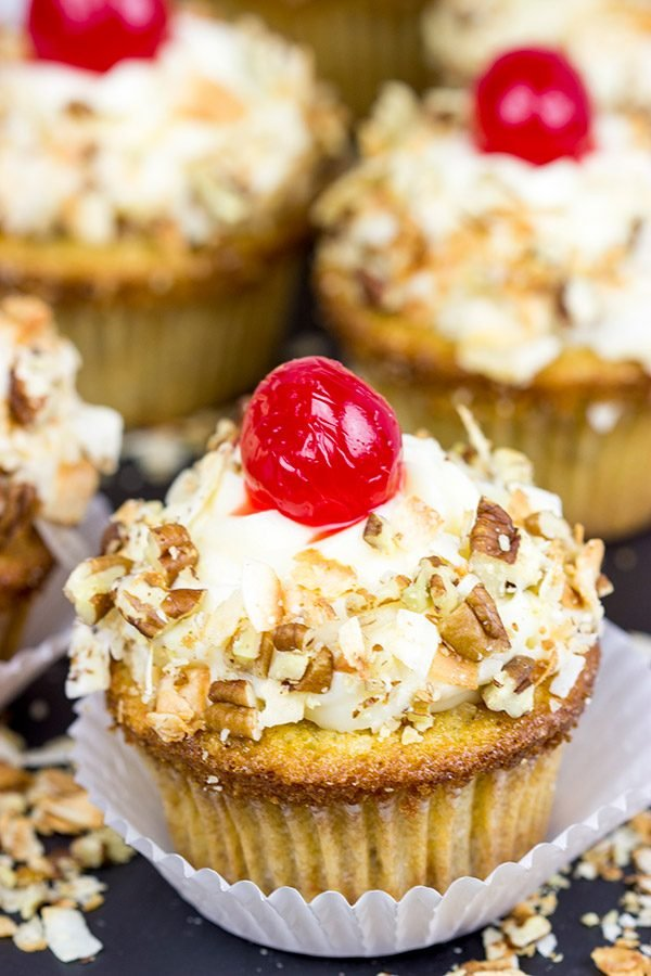Italian Cream Cupcakes might not actually be from Italy...but they're still one heck of a delicious dessert!