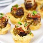 Italian Meatball Tartlets