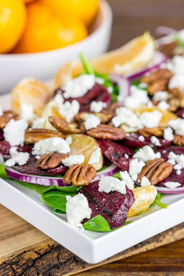This Mandarin Beet Salad with Poppyseed Dressing makes for an easy and delicious winter lunch!
