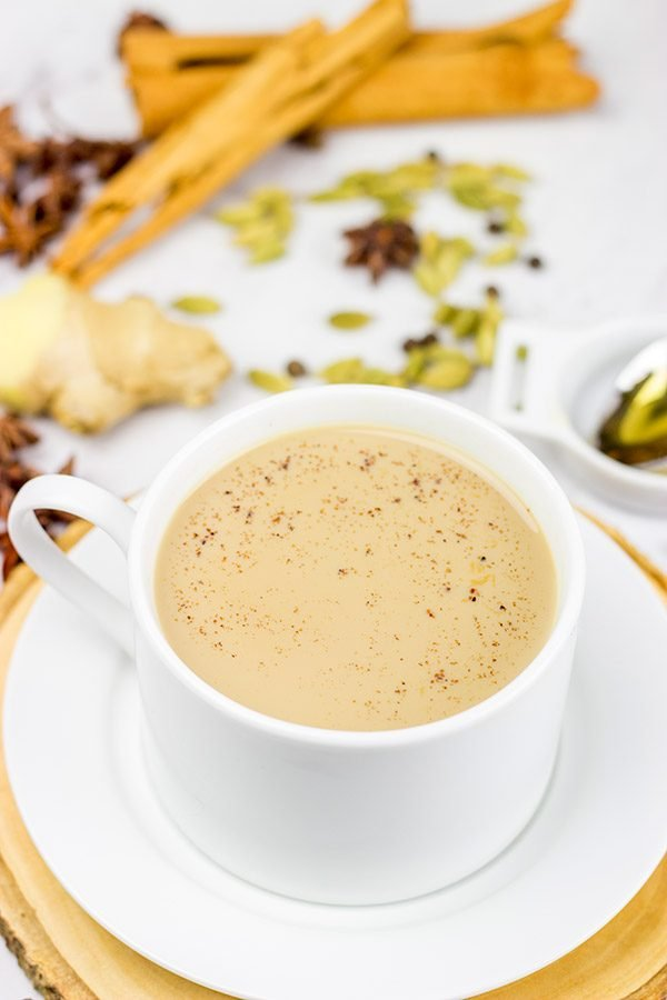 This Masala Chai is filled with warming spices...perfect for sipping by the fire on a cold afternoon! http://spicedblog.com/