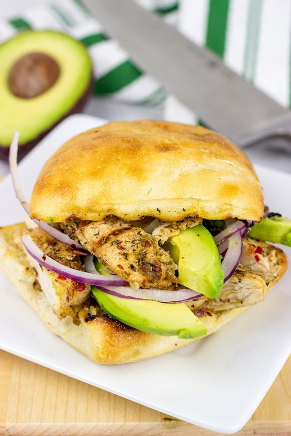 Tired of boring lunches? This Grilled Jerk Chicken Sandwich will you have you wondering if it's time for your lunch break yet!
