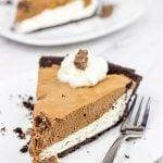 No Bake Chocolate Almond Pie