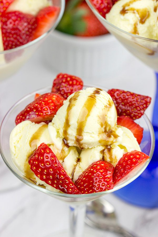 Looking for a unique dessert idea? This Olive Oil Gelato with Balsamic Strawberries will have you asking for seconds...I promise!