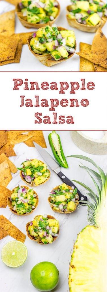 Mix up summer salsa season with this Pineapple Jalapeno Salsa!