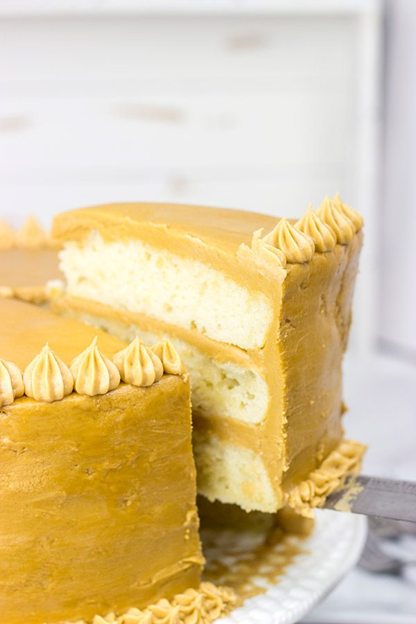 Inspired by an old favorite, this Southern Caramel Cake features a rich, caramel frosting over layers of dense, white cake...and it's delicious!