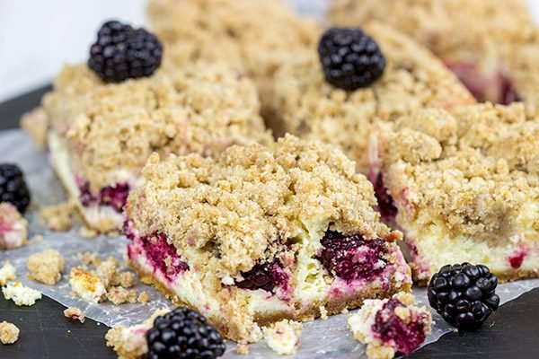 These Blackberry Cheesecake Bars are a new summer favorite dessert in our house!