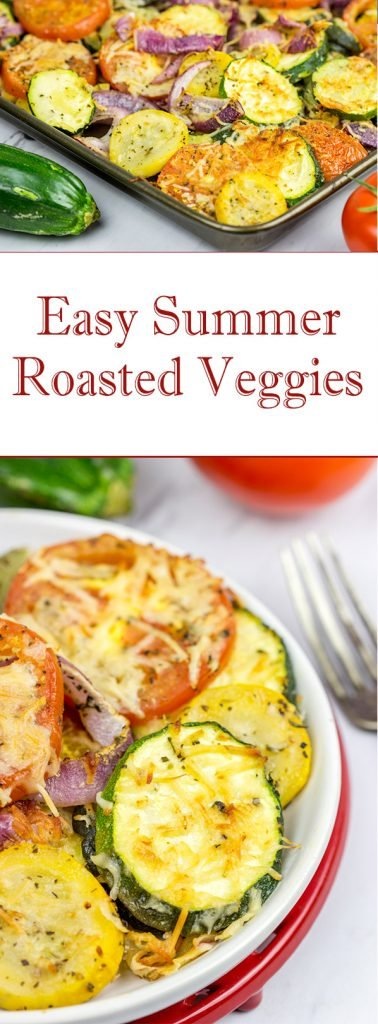 Overrun with fresh zucchini? Then roast up a batch of these Easy Roasted Summer Vegetables!