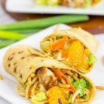 Mandarin Chicken Salad Wraps