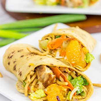 With just a little prep work on Sunday, these Mandarin Chicken Salad Wraps will turn into some tasty weekday lunches!