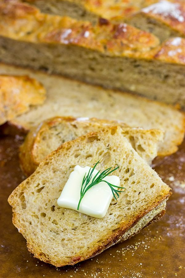 Craving some tasty homemade bread? Then this No Knead Cheddar Dill Beer Bread will solve that problem!