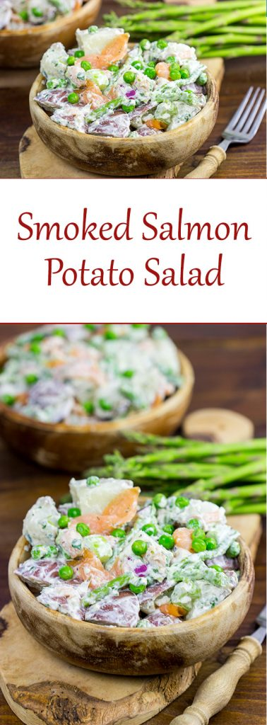 Mix up a summer classic with this tasty Smoked Salmon Potato Salad!