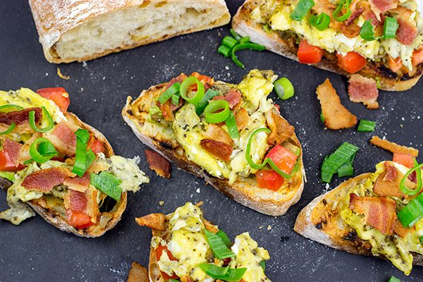 Grab a loaf of crusty bread and whip up this Breakfast Bruschetta for a fun morning meal!