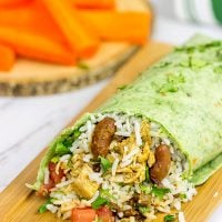 These Coconut Rice and Madras Lentils Burritos are easy to make and packed with flavor!